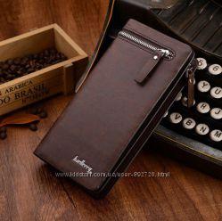 Baellerry Italia мужской стильный клатч портмоне коричневый, черный
