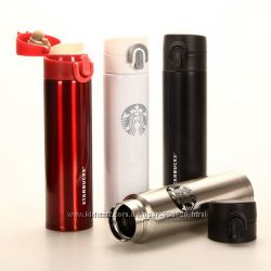Компактный термос тамблер Starbucks Style Старбакс 300мл. Держит 15 часов