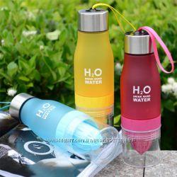 Detox бутылка соковыжималка H20 Water Bottle 650 мл для воды и напитков