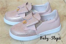 Мокасины на девочку 32 - 36 р Palaris Паларис кожаные слипоны, туфли