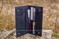 Кошелек портмоне клатч Элитный из превосходной винтажной кожи