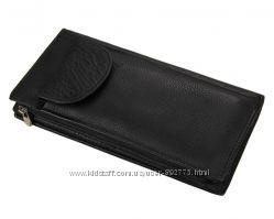 Клатч портмоне кошелек Black с кредитницей   Портмоне кошелек изготовлен