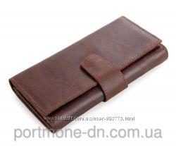 Кошелек кожаный, купюрница, мужской клатч, чехол для смартфона 5 дюймов