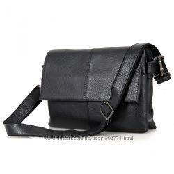 Мужская сумка Мессенджер Black из натуральной кожи