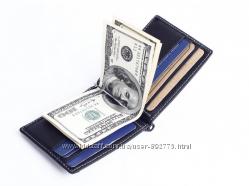 Зажим для денег , тонкое портмоне с монетницей.