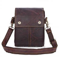 Мужская сумка Cross Body-3 brown из натуральной кожи