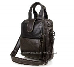 Сумка мужская портфель Retro-3, 100 Кожа темно-серый
