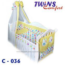 Наборчик в кроватку Comfort 8 эл. Цветные Горохи, Twins