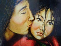 Картина маслом Материнство