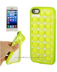 Силиконовый чехол Quadrel Fluorescent Салатовый для iPhone 5-5S