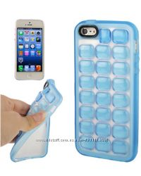 Силиконовый чехол Quadrel Fluorescent Голубой для iPhone 5-5S