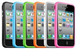 Бампер ТПУ любой цвет для iPhone 4-4S