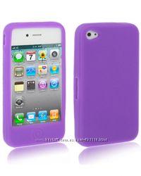 Силиконовый чехол EasyColors фиолетовый для iPhone 4-4S