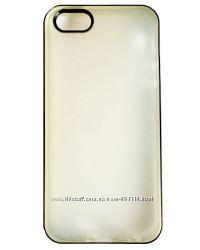 Полиуретановый чехол сплит ТПУ ultraсиний и серый для iPhone 5-5S
