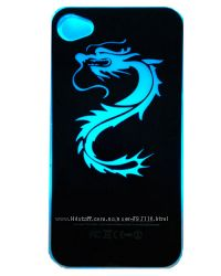 Светящийся чехол с изображением дракона для iPhone 4-4S