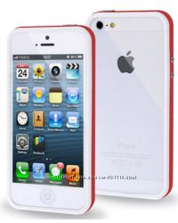 Чехол-бампер TPU Красный для iPhone 5-5S