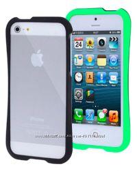 Пластиковый Бампер Slim  Зеленый для iPhone 5-5S