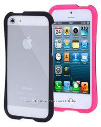 Пластиковый Бампер Slim  Розовый для iPhone 5-5S
