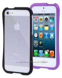 Пластиковый Бампер Slim  Фиолетовый для iPhone 5-5S