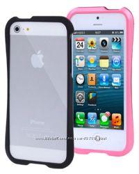Пластиковый Бампер Slim Пурпурный для iPhone 5-5S