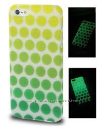 Пластиковый Fluorescent чехол Салатовый для iPhone 5-5S