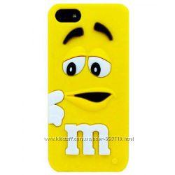 Чехол для iPhone 5-5S M&Ms силиконовый желтый