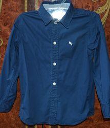 Сорочка H&M 5-6 років, 116 см, темно-синя