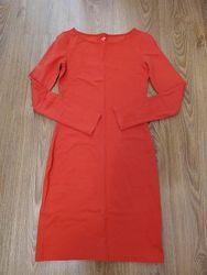 Платье Oodji морковного цвета размер 42 S