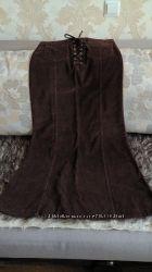 Новая вельветовая длинная юбка divided by h&m.