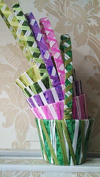 Новые корзинки для флористики или рукоделия.