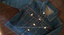 Брндовый джинсовый пиджак р 32 -34 болеро 7-8 лет  122