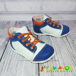 Распродажа Renbut White кожаные ботинки для мальчика 18-23 размеры