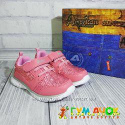 Кроссовки для Девочки 25-30 размеры American Club Pink Польша детские