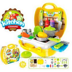 Кухня 8311 плита мойка, посудка, продукты 26 предметов, в чемодане
