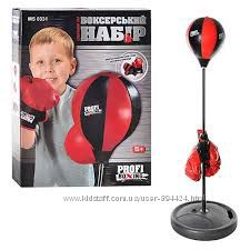 Боксерский набор боксерская груша на стойке, перчатки. 0331, 0332, 0333