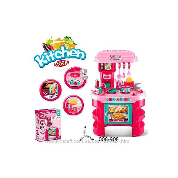Детская кухня Little Chef 008-908 красная и розовая