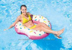 Пончик надкушенный надувной круг для пляжа