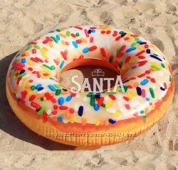 Надувной круг Пончик с присыпкой Intex 56263