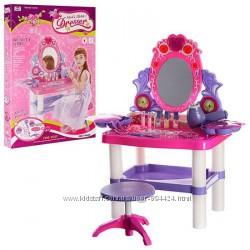 Красивый туалетный столик 0395 трюмо для девочек 2-7 лет 73008&920395