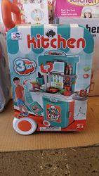 Чемодан кухня на колесах, свет, звук  008-956