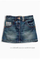 Джинсовая юбка Next, р. 1, 5-2 года, 92см, большемерит