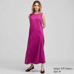 Платье из мерсеризованного хлопка, Uniqlo, размер XS