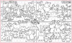 Панно-раскраска Свинка Пеппа с наклейками
