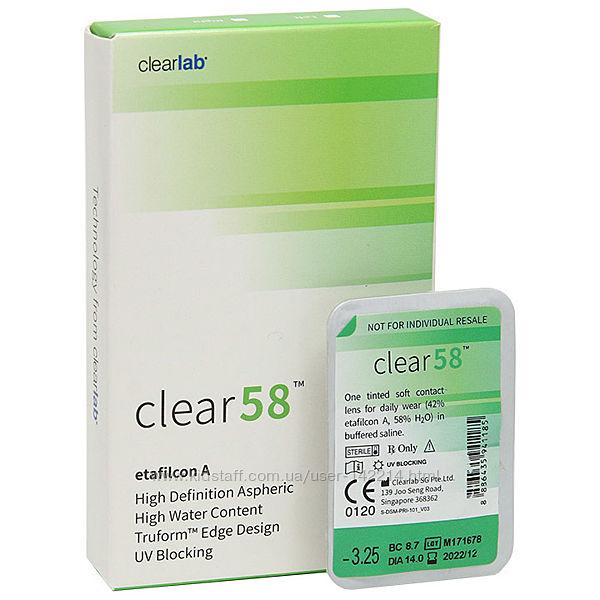 Clear 58 UV ежемесячные контактные линзы