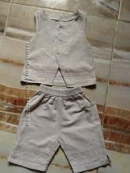 Льняной костюмчик для малышки
