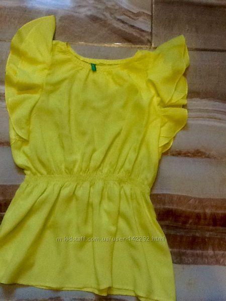 Желто- лимонная блуза Benetton