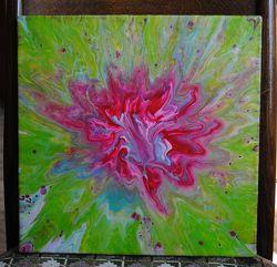 Оригинальные картины на холсте,  техника жидкий акрил.  Абстракция.