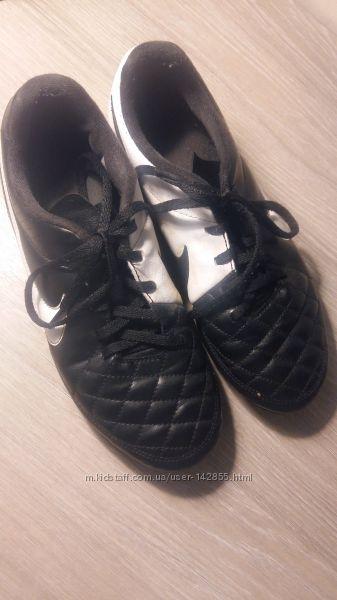 Бутсы футбольные NIKE JR TIEMPO RIO II - детские спортивные - 631286 010