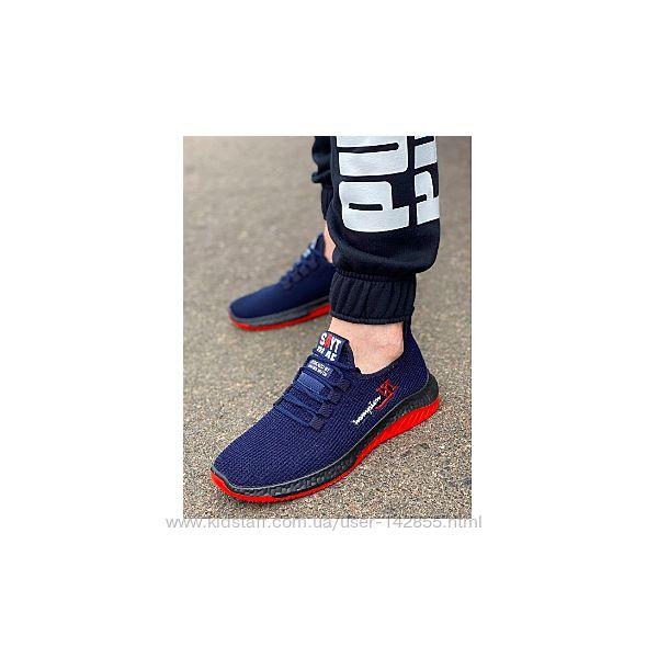 Распродажа Кроссовки подростковые, мужские темно-синего цвета 40-45