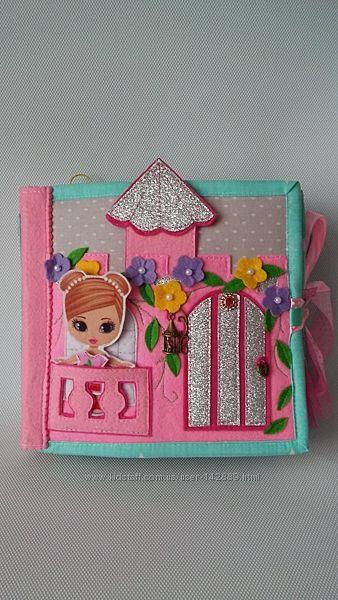 Книжка из фетра Кукольный домик